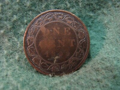 Beautiful 1899 Canada One Cent Coin  Gorgeous Large Cent 2