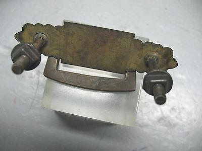 Brass  Drawer  Pull  Eastlake  Solid Brass  Complete  Vint Orig. 3