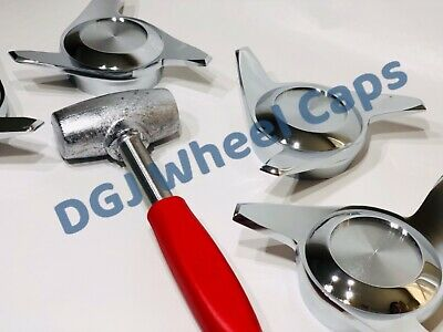 3 Bar Smooth Straight Chrome Knock-Off Spinner /& Hammer for Lowrider Wire Wheels