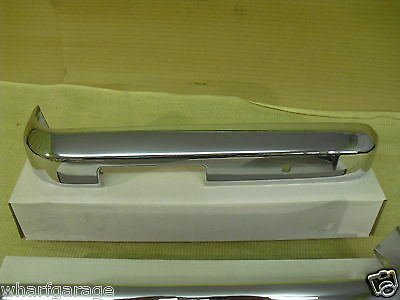 FORD ESCORT Mk2 Front 1//4 Quarter Bumpers Chrome On Steel Pair 25-19-90-3 4
