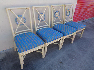 Peachy Vintage Set Of 4 Mcguire Style Target Back Dining Chairs Dailytribune Chair Design For Home Dailytribuneorg