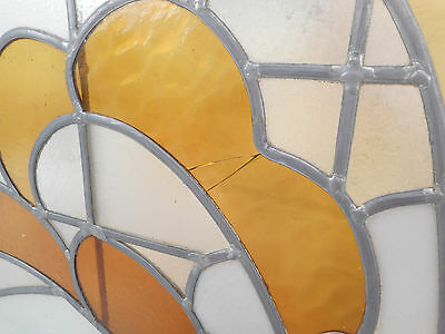 Large Vintage Stained Glass Window (1512)NJ 6