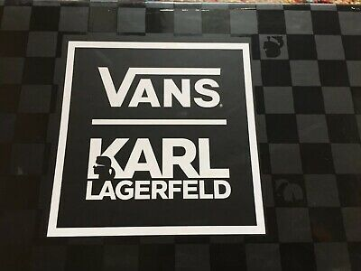 NEW VANS KARL Lagerfeld Classic Slip On Us Mens 7.5 Us