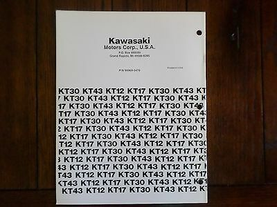 Kawasaki KT43 2 Cycle Air Cooled Gasoline Engine Service Manual 3