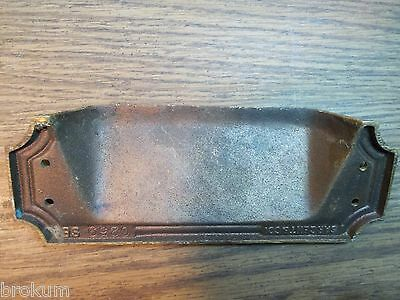 Antique Sargent Heavy Solid Bronze Art Deco Mail Slot Drop-Pass Through W/spring 5