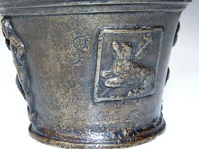 Originaler Mörser Bronze Löwe Herkules Lamm Gottes Norditalien Südtirol Um 1650
