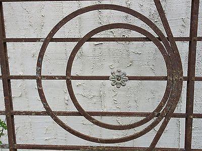 Antique Victorian Iron Gate Window Garden Fence Architectural Salvage Door #78 5
