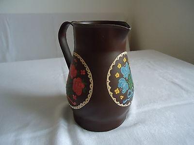 Milchkanne Kanne Vase Trockenblumen Gesteck Metallkanne Dekoration handbemalt 6
