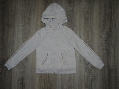 Girls H&M hoodie/ hooded jacket Gold stripes/ hooded top coat size 6-8 years 2