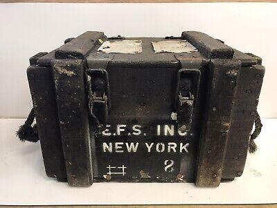 Vintage Antique Mars Equipment USA Wooden Box E.F.S. INC New York US MFG 6