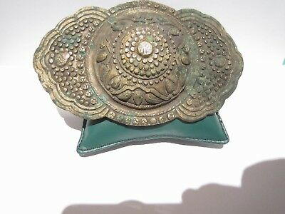 BEAUTIFUL ANTIQUE 1800's. SILVER BUCKLE WITH TOP DECORATION # 846 5