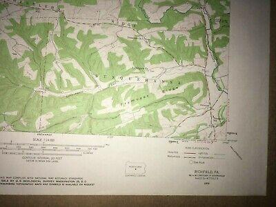 Richfield Pa. Juniata Co USGS Topographical Geological Survey Quadrangle old Map 5