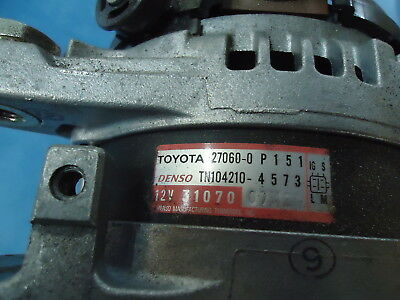 Toyota Highlander New Altenator 27060-0P151 Denso Tn104210-4573, 12V 31070 07M2