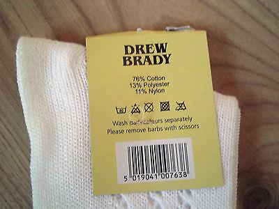 Girls White Pelerine 3/4 High Patterned Socks School Uniform Toddler Lot 3,6,12 4