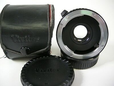 Vivitar MC Tele Converter 2x-22 w/ caps and case PK Mount 3