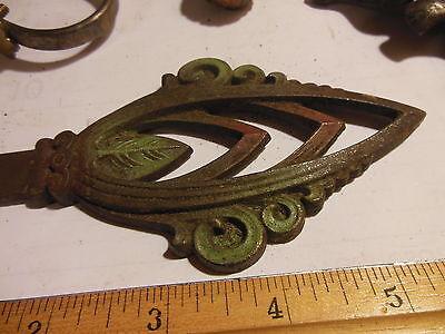 Antique Hardware Art Nouveau Cast Iron Ornate Curtain Rod End Finial Center Part 5