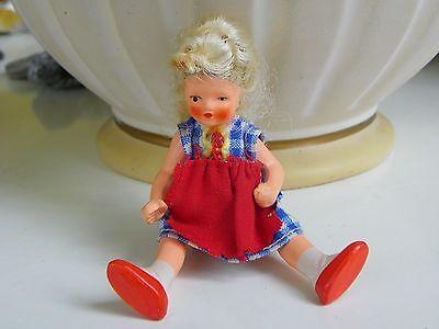 Sehr hübsche kleine antike bewegliche Masse Puppe - top in Ordnung - für Sammler