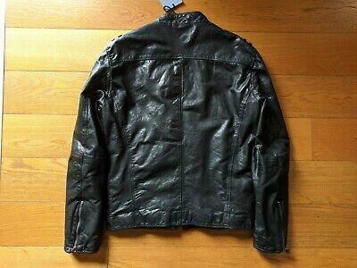 GIACCA UOMO PELLE capra Hogan giubbotto nero S leather black ...