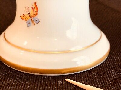 Hochst Floral Candleholder Hand Painted Porcelain New 11