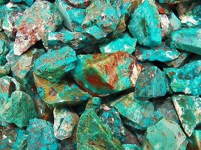 1000 Carat Lots of  Chrysocolla & Turquoise Rough - Plus a FREE Faceted Gemstone 3