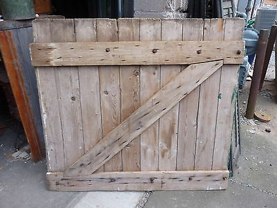 "GORGEOUS 19th century antique barn door WONDERFUL patina STRAP HINGES 53"" x 47"""