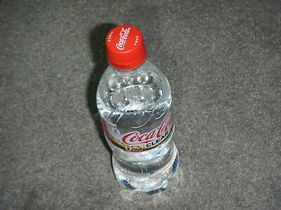 rare CLEAR CocaCola Coke Crystal Pepsi Soda fresh Japan Limited Edition bottle