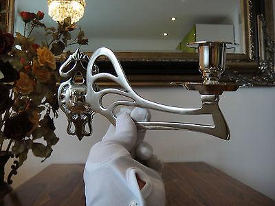 Klavierleuchter Kerzenleuchter Kerzenhalter Jugendstil Silber Antik Möbelleuchte 4