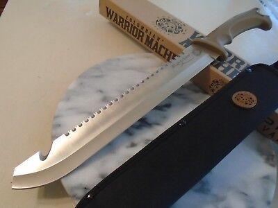 "Colombian Warrior Raptor Machete Sword Knife Saw Hook Full Tang 3234 3Cr13 18"" 3"