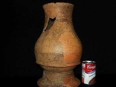 Pre-Columbian Pedestal Urn, Chimney Pot,Polychrome, Nicoya, Very Large 2