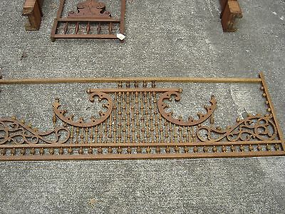 Antique Stick & Ball Oak Fretwork. Pierced corners with scroll design.8887 11