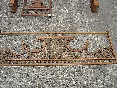 Antique Stick & Ball Oak Fretwork. Pierced corners with scroll design.8887 11