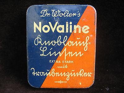 Alte Blechdose Dr. Wolter's NoValine Knoblauch-Linsen - Preis 1,20 Reichsmark 2