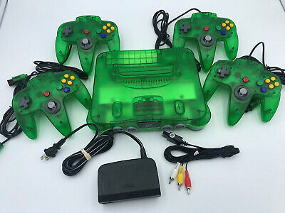 Choose Nintendo 64 Console Color + Up to 4 Controllers + Cords!  CLEANED N64! 10