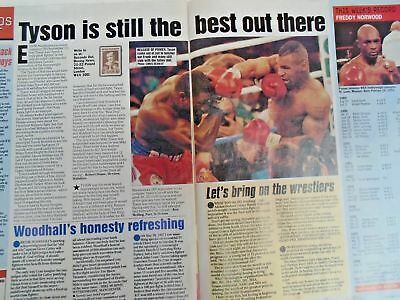 BOXING NEWS - 2nd oct 1998 - herbie, paul, lewis holyfield, naz free p&p to uk 12