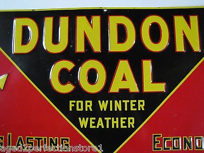Early 1900s Dundon Coal Advertising Sign 'for winter weather' old embossed *Rare 2
