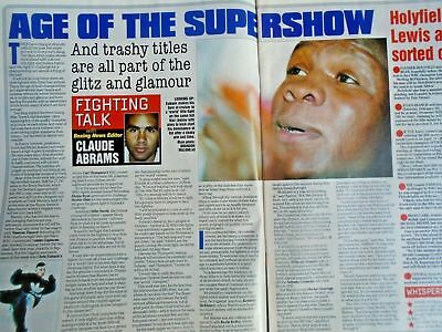 BOXING NEWS - 27 feb 1998 - eubank, mcdonnell, holyfield, lewis free p&p to uk 3