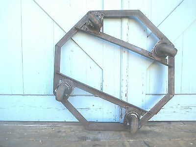 rare PLANT STAND on wheels MODERN octagon dolly STEM PUNK old MID CENTURY 3