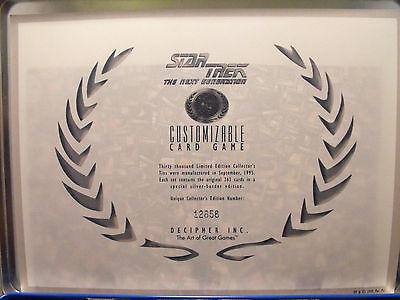 Star Trek Ccg Limitierte Ausgabe Sammlerdose