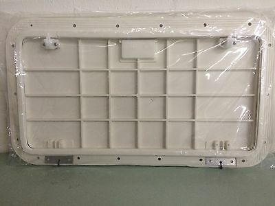 HATCH HINGED ARCTIC WHITE RABUD HATCH COVER DECK PLATE 50-39141  BOATINGMALL