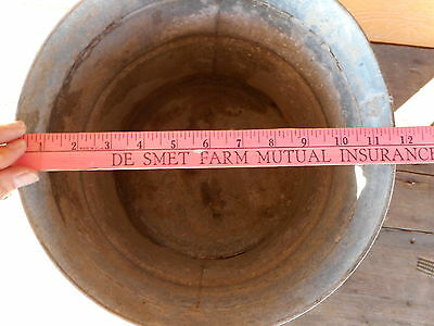 GALVANIZED Mop BUCKET Vintage PRIMITIVE INDUSTRIAL COUNTRY PLANTER Geerpres 9