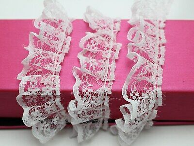 5 Meters Ruffle Unilateral Lace Trim Ribbon 23mm Sewing Wedding Color for Choice 5