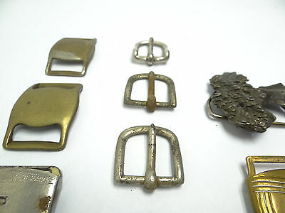 Mixed Antique & Vintage Lot Metal Brass Iron SK Allison Belt Buckles Military 6