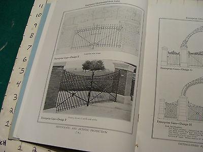 vintage Original Catalog: ENTRPRISE WROUGHT IRON fences-gates-arches, 1931 or so 6