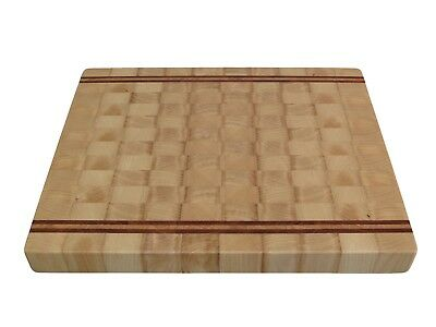 Handmade, Cutting Board End Grain, with Feet, Butcher Block, Chopping Board, Ash 4