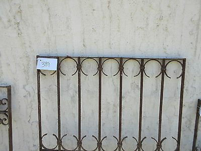 Antique Victorian Iron Gate Window Garden Fence Architectural Salvage Door #389 2