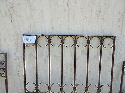 Antique Victorian Iron Gate Window Garden Fence Architectural Salvage Door #389 2