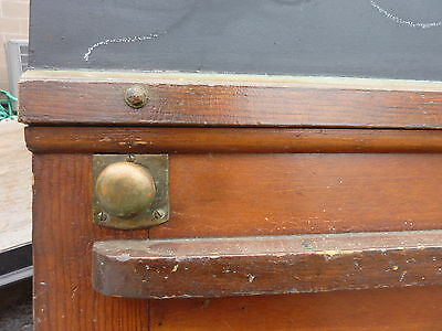"early 20th century schoolhouse SLATE chalkboard salvaged DOOR & FRAME 65 x 30.5"" 7"