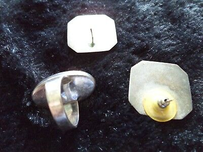 Ladies Sterling Silver Rose Quarts Collection Ring Sz 6 Earrings Estate Jewelry 6