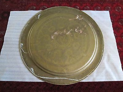 """Gorgeous Antique Persian Islamic Engraved Copper Tray 38""""/ 97cm/ 14lbs 7"""