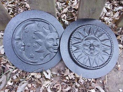 """Eclipse plastic mold concrete sun moon mould 7.5/"""" x 1//2/"""" thick"""